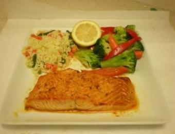 Broiled Salmon Platter