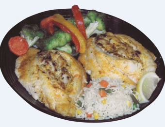 Broiled Broiled Stuffed Flounder Platter