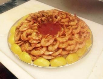 Spiced Shrimp Platter